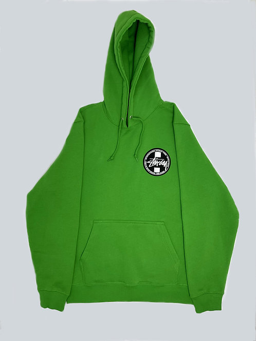 Stussy Tribe Green Embroidered Hoodie