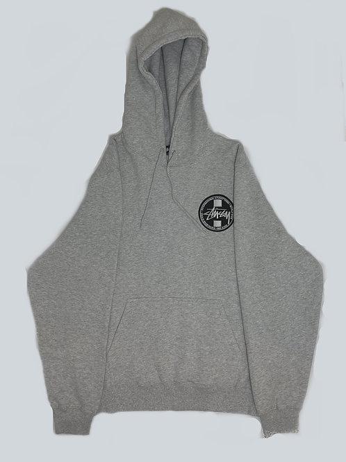 Stussy International  Embroidered Grey Hoodie
