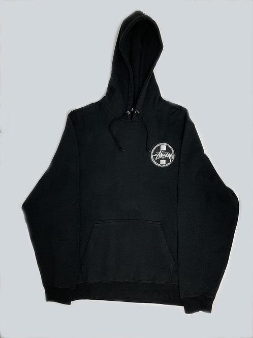 Stussy Tribe Black Embroidered hoodie