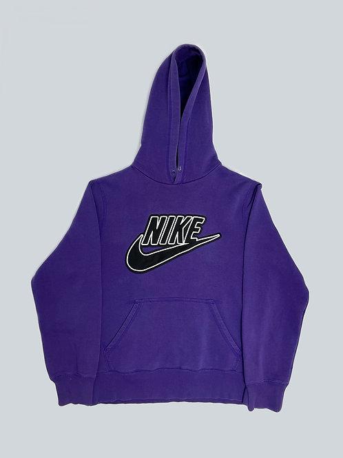 Nike Vintage Purple Embroidered Spellout Hoodie
