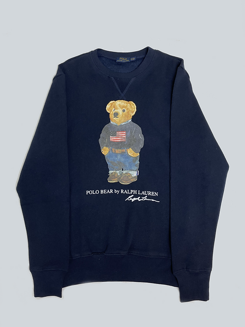 Ralph Lauren USA Polo Bear Navy Sweatshirt