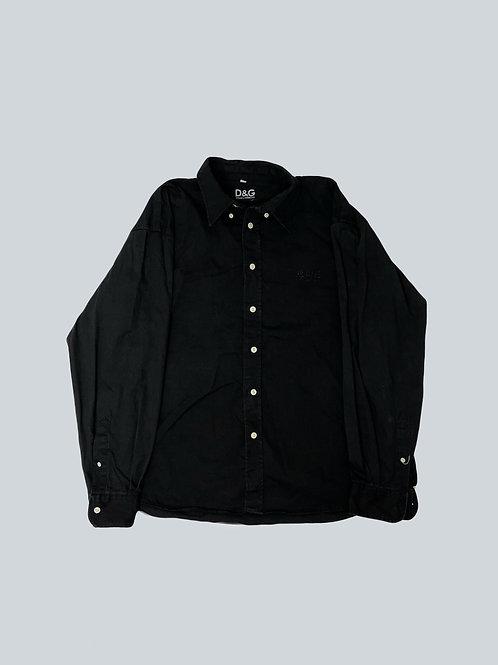 Dolce & Gabbana Vintage Black Dress Shirt