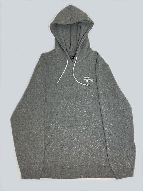 Stussy Grey Logo Hoodie