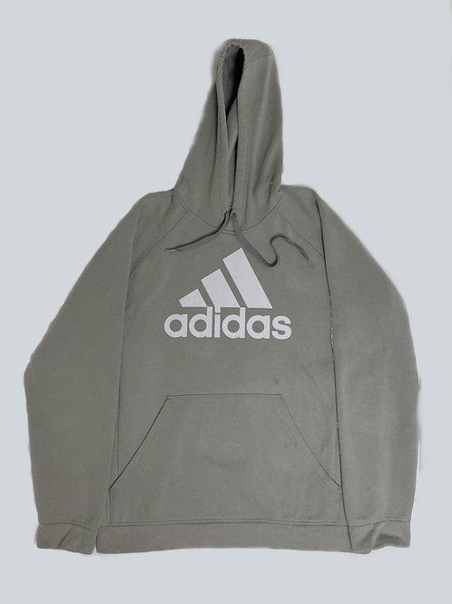 Adidas Vintage Grey Spellout Hoodie