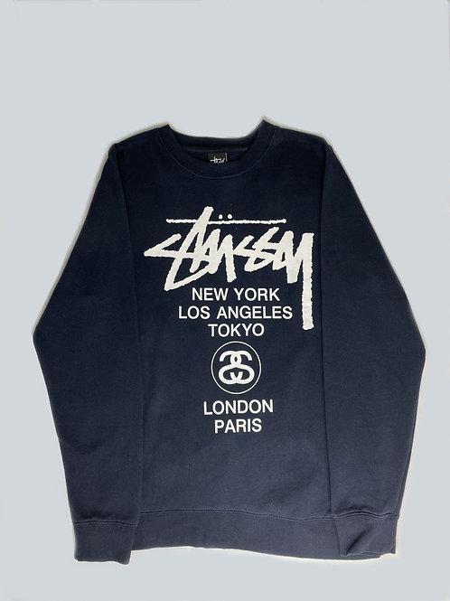 Stussy International Navy Blue Sweatshirt