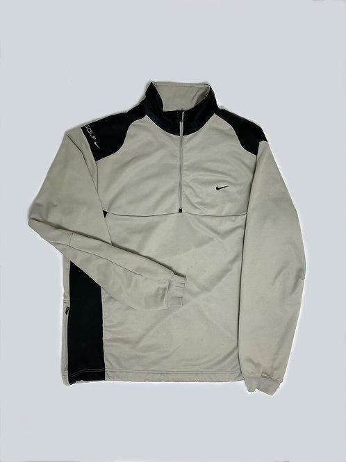 Nike Vintage Grey Spellout Fleece 1/4 Zip
