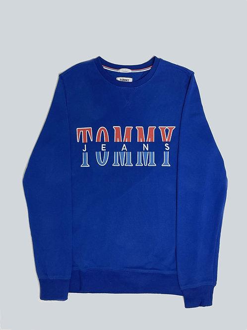 Tommy Hilfiger Jeans Embroidered Blue Sweatshirt