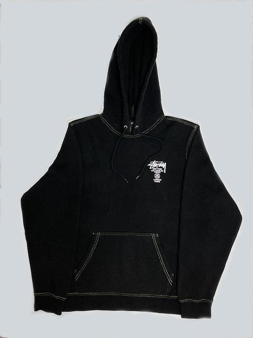 Stussy International Black Print Lined Hoodie