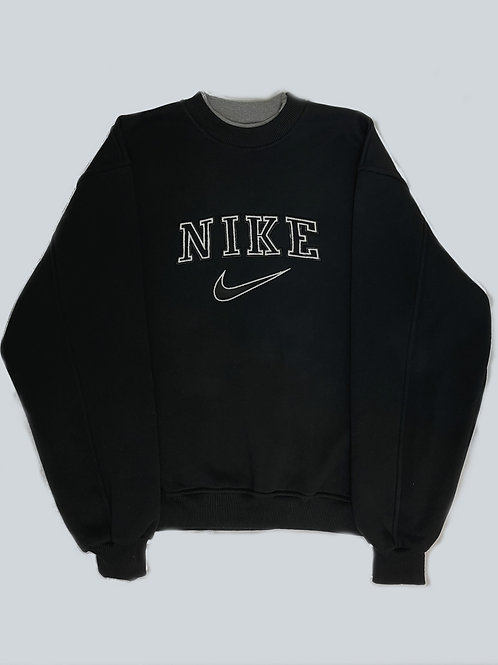 Nike Vintage 90's Black Spellout  Sweatshirt