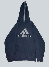 Adidas Vintage Navy Spellout Hoodie