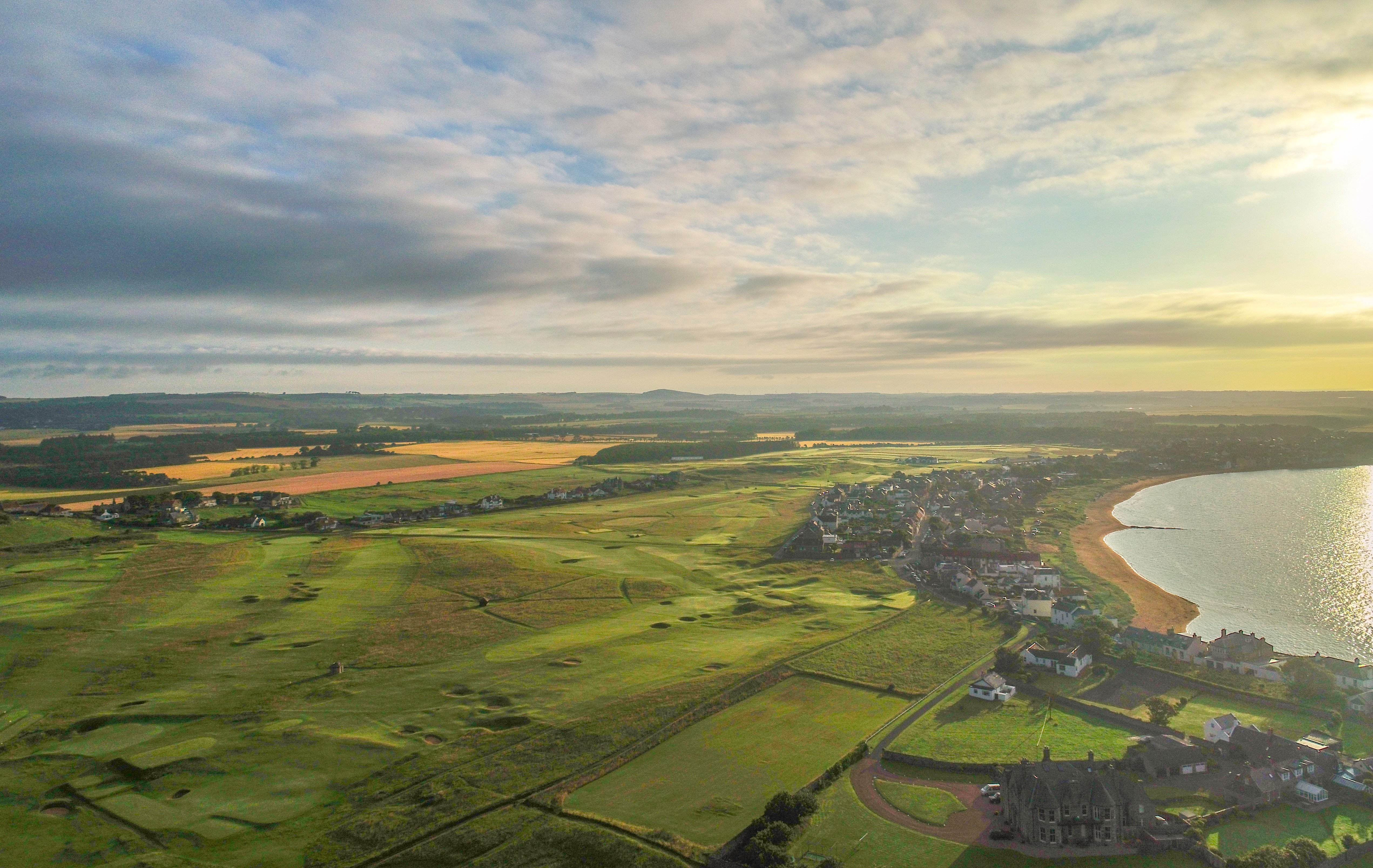 Panoramic Golf Course Photography