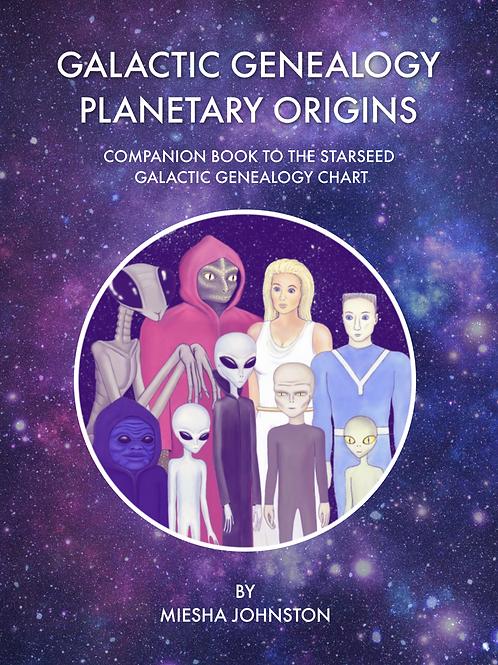 Galactic Genealogy 8 X 11 color book & Chart