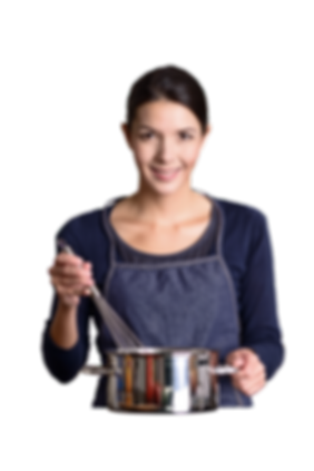 Slide 1 - Foto de uma cozinheira