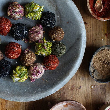 Colourful Labneh Balls