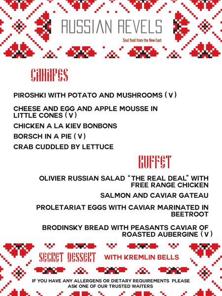 Food Menu by Russian Revels