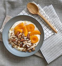 Yogurt bowl with granola & peaches.jpg