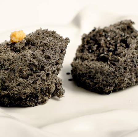 Black Sesame Microwave Sponge Cake