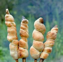 Campfire Bread on a Stick