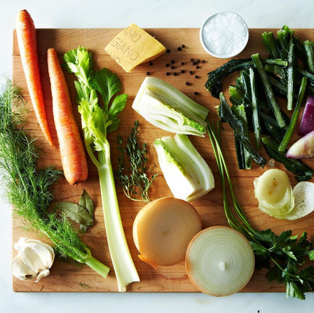 Vegetable Stock with Food Scraps