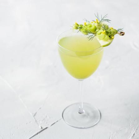 Scandi Aquavit with celery, apple, cardamom