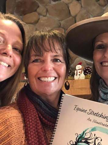 Maria, Donna & Julie with book
