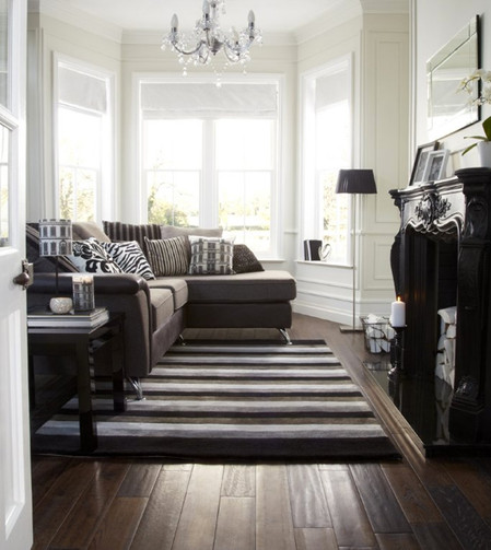 Monochrome Living room | Interior Stylist