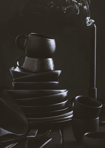 Style it Dark | Black Ceramics | Props