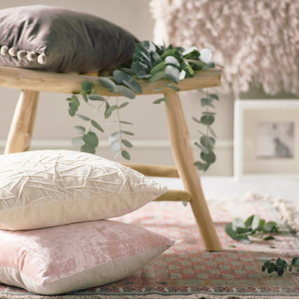 Scandi style | Cushions | Velvets, Linens & Natural woods