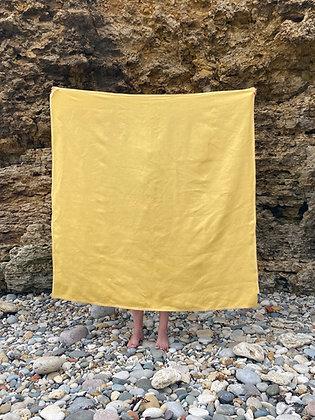 IRISH LINEN LARGE TOWEL - SUNSHINE YELLOW