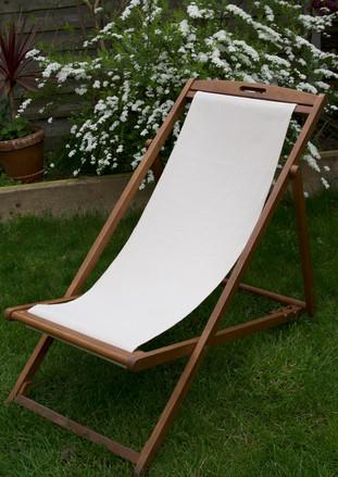 DECKCHAIR SEAT IN A 50% ORGANIC COTTON 50% HEMP UNDYED JACQUARD