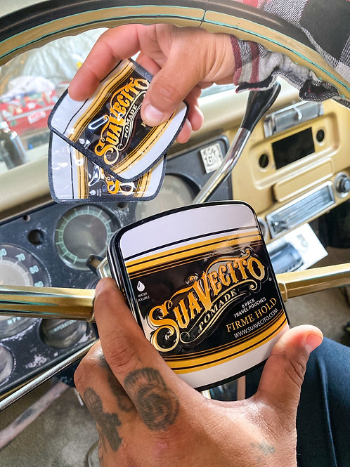 Suavecito travel Tin with firme pomade