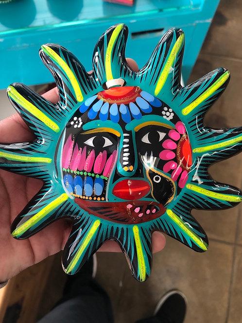 Hand Painted Ceramic Hanging Sun