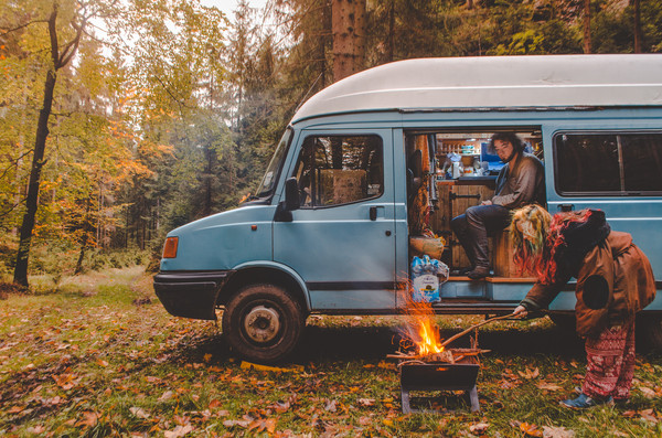 Vanlife camping in the Czech Republic