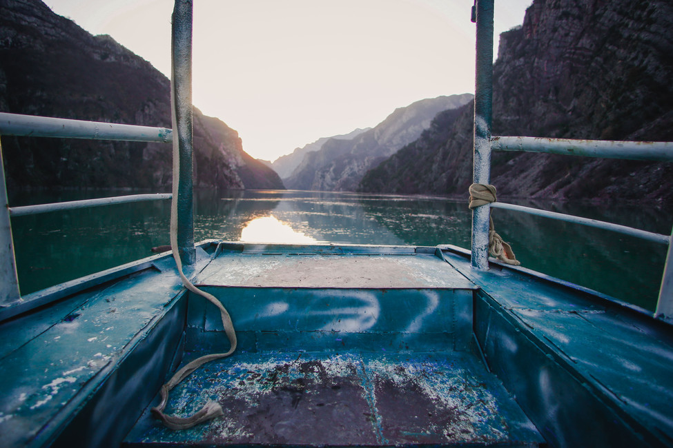 Boat journey over Lake Koman, Albania - From Rust To Roadtrip