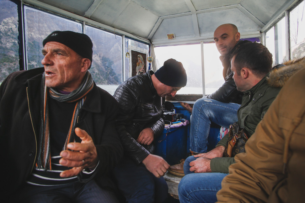 Documentary project, residents of the Albanian Alps on a boat - From Rust To Roadtrip