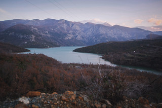 Sunrise over Lake Koman in the Albanian Alps  - From Rust To Roadtrip