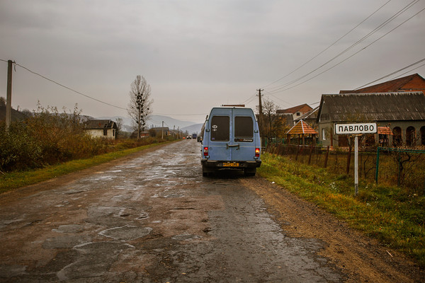 Driving our converted self build campervan through Ukraine.