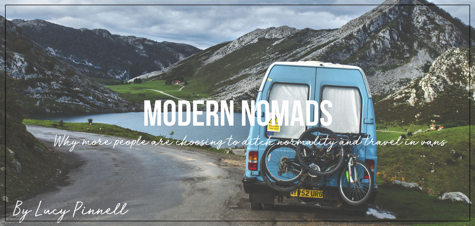 Van conversion camping in the mountains by a lake in the Picos De Europa