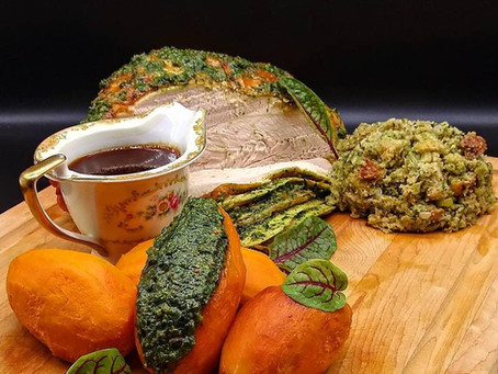 Thanksgiving Favorites with Rocket Fuel Pesto