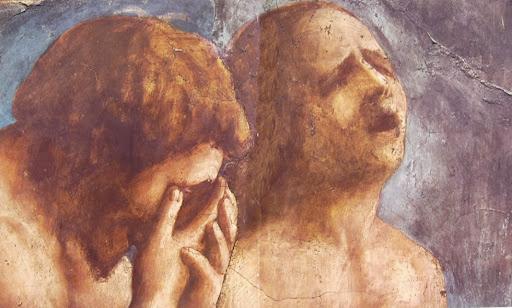 A detail from Masaccio's Cacciata dei progenitori dall'Eden.