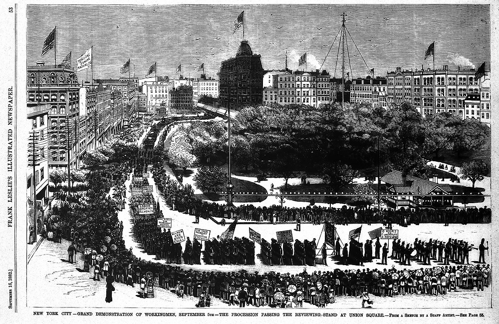 First US Labor Day Parade, 5 September 1882 in New York City