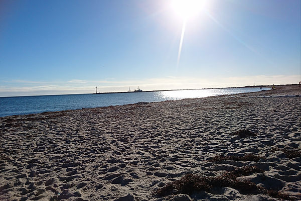 Südstrand mit Herbstsonne