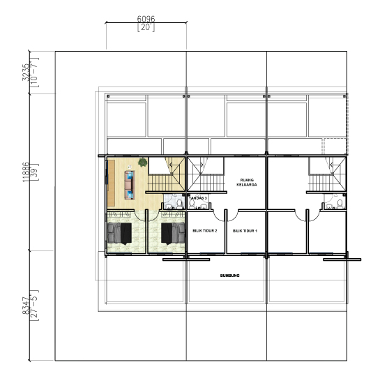 1.5 Storey Terrace - First Floor