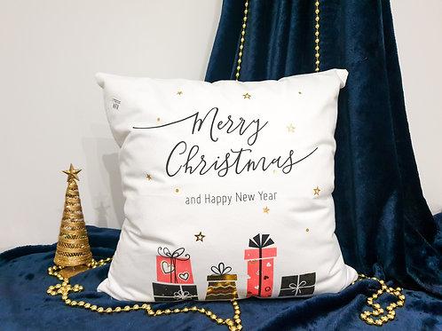 """Декоративна възглавница """"Коледни изненади"""""""