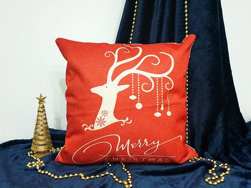 """Декоративна възглавница """"Коледен елен"""""""