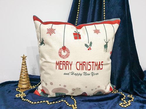 """Декоративна възглавница """"Коледна традиция"""""""