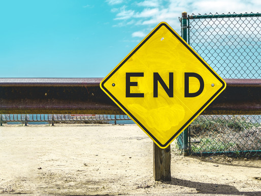 The End: Year, Career, or Presentation – All Must Face an End