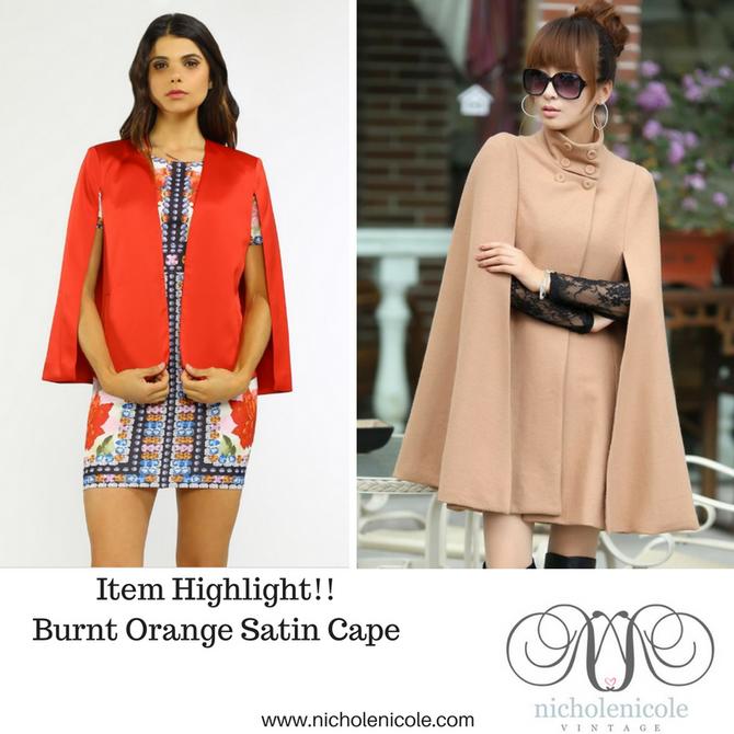 #StyleInspiration                                       Fashion Capes