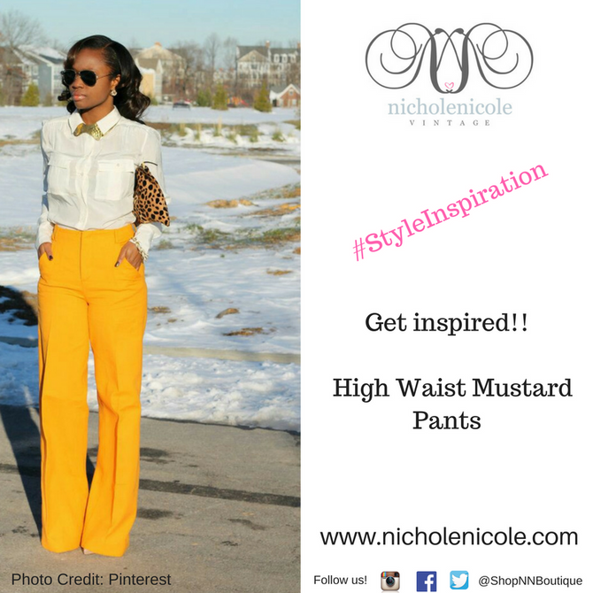 #StyleInspiration:   The Yellow That Screams YES!!