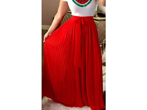 Solid Color Maxi Skirt